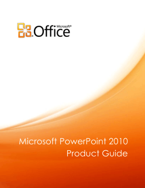 Free Download PDF Books, Microsoft Powerpoint 2010 Product Guide