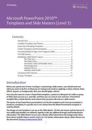 Microsoft Powerpoint 2010 Templates And Slide Masters