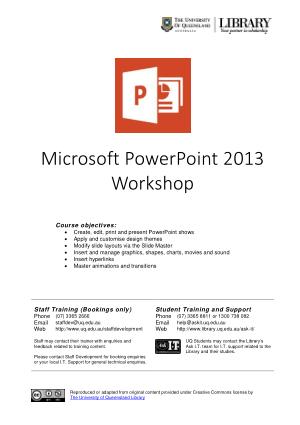 Free Download PDF Books, Microsoft Powerpoint 2013 Workshop