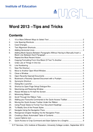 Microsoft Word 2013 Tips And Tricks