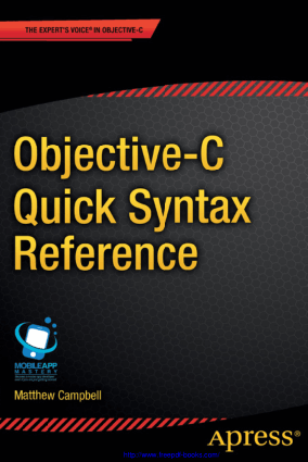 Free Download PDF Books, Objective C Quick Syntax Reference