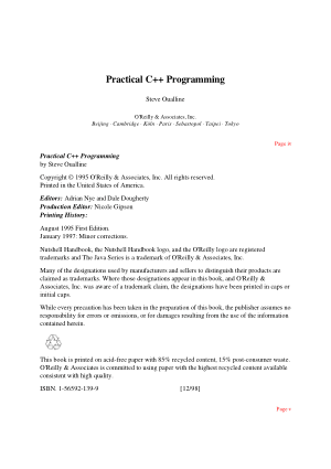 Practical C++ Programming Book | Free PDF Books
