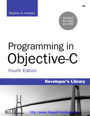 Free Download PDF Books, Programming In Objective C 4th Edition