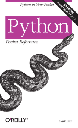 Python Pocket Reference 4th Edition Book