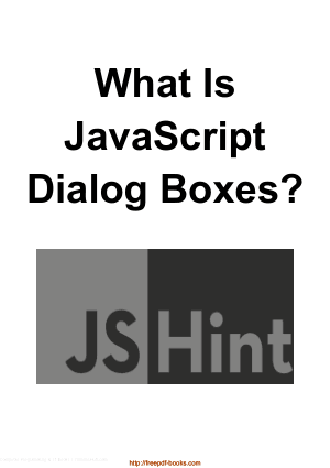 What Is JavaScript Dialog Boxes