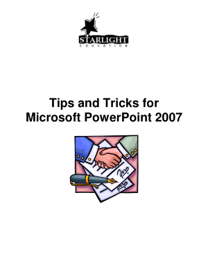Tips And Tricks For Microsoft Powerpoint 2007