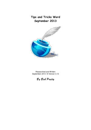Free Download PDF Books, Tips And Tricks Word September 2013