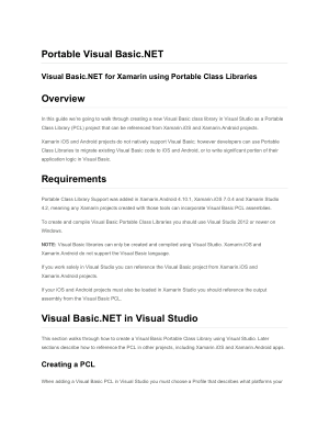 Free Download PDF Books, Visual Basic.Net For Xamarin Using Portable Class Libraries