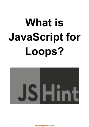 What Is JavaScript For Loops