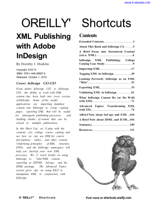 Free Download PDF Books, XML Publishing With Indesign CS