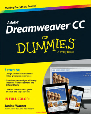 Free Download PDF Books, Adobe Dreamweaver CC For Dummies
