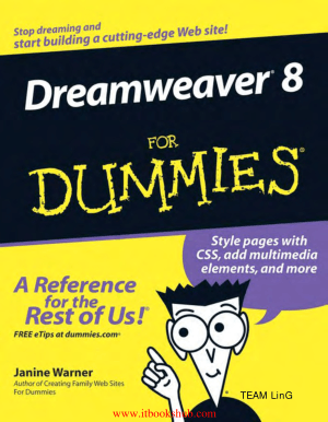 Dreamweaver 8 For Dummies, Pdf Free Download