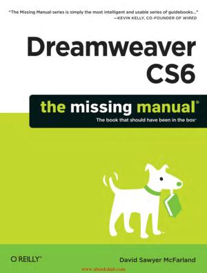 Dreamweaver Cs6: The Missing Manual 64-Bit