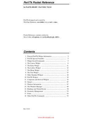 Free Download PDF Books, PerlTk Pocket Reference