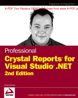 Free Download PDF Books, Professional Crystal Reports for Visual Studio .NET, 2nd Edition