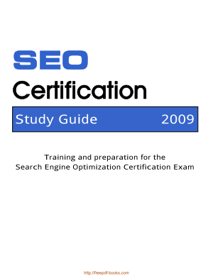 Seo Certification Study Guide