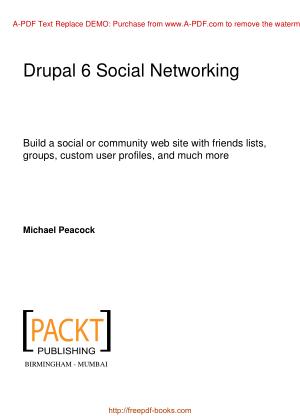 Free Download PDF Books, Drupal 6 Social Networking