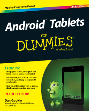 Android Tablets For Dummies 2nd Edition Book, Android Tutorial