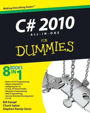 Free Download PDF Books, C# 2010 All In One For Dummies
