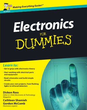 Free Download PDF Books, Electronics For Dummies