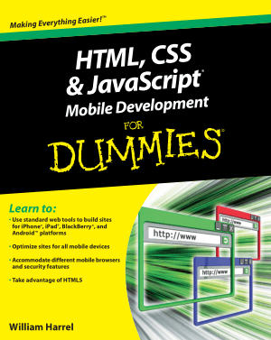 Free Download PDF Books, HTML CSS And JavaScript Mobile Development For Dummies