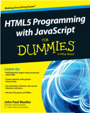 HTML5 Programming With Javascript For Dummies, HTML5 Tutorial Book