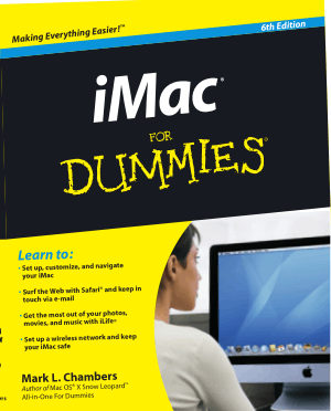 Free Download PDF Books, iMac For Dummies 6th Edition Book