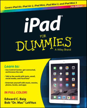 iPAD For Dummies 7th Edition Book