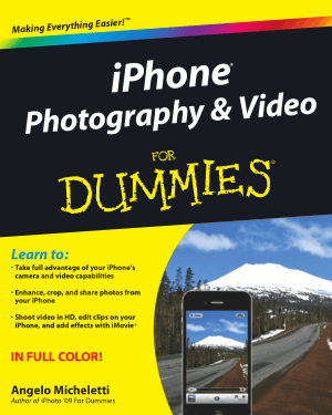 iPhone Photography And Video For Dummies Book | Free PDF Books