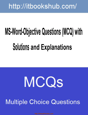 Free Download PDF Books, MS Word Objective Questions MCQs With Solutions And Explanations