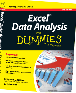 Microsoft Excel Data Analysis For Dummies 2nd Edition Book