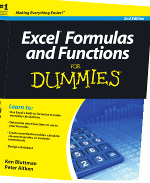 Microsoft Excel Formulas And Functions For Dummies 2nd Edition Book
