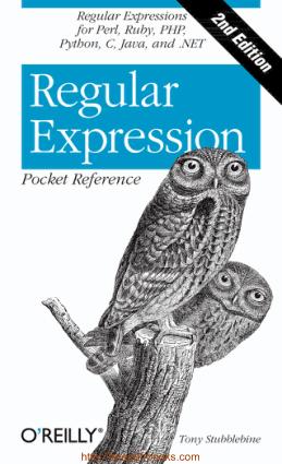 Free Download PDF Books, Regular Expression Pocket Reference 2nd Edition