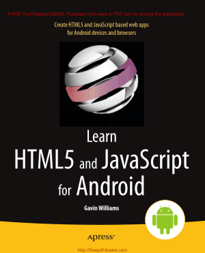 Learn HTML5 And JavaScript For Android, Learning Free Tutorial Book