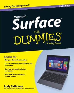 Free Download PDF Books, Surface For Dummies 2nd Edition Book