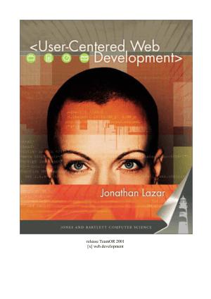 Free Download PDF Books, User-Centered Web Development
