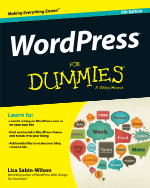 WordPress For Dummies 6th Edition Book