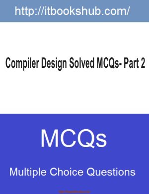 Compiler Design Solved Mcqs Part 2