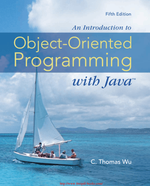 An Introduction to Object Oriented Programming with Java 5th Edition