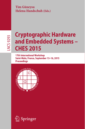 Cryptographic Hardware and Embedded Systems- CHES 2015 – PDF Books