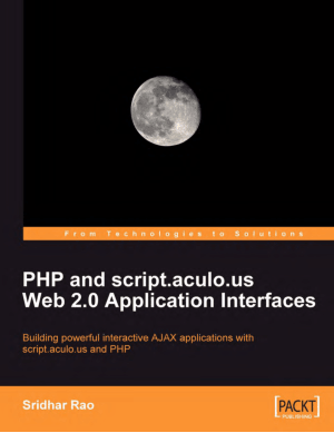 PHP and script.aculo.us Web 2.0 Application Interfaces – PDF Books
