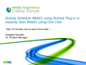 Quickly Schedule Webex Using Outlook Plug In