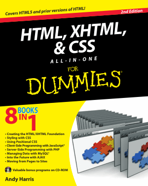 HTML XHTML And CSS All in One for Dummies 2nd edition – PDF Books