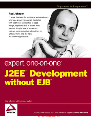 Expert One on One J2EE Development without EJB – PDF Books