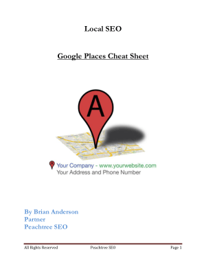 Google Places Cheat Sheet – PDF Books