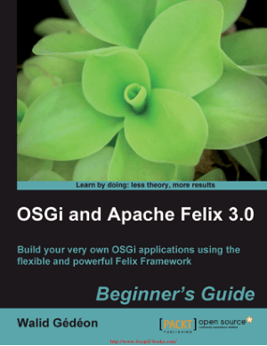 OSGi and Apache Felix 3.0 – PDF Books