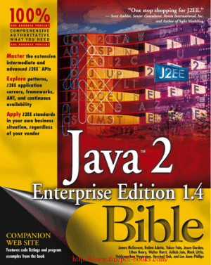 Java 2 Enterprise Edition 1.4 Bible –, Java Programming Tutorial Book