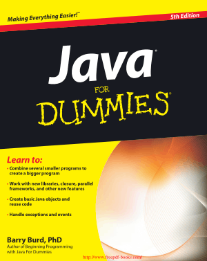 Java For Dummies 5th Edition –, Java Programming Tutorial Book