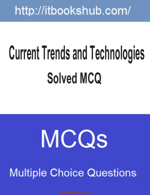 Free Download PDF Books, Current Trends And Technologies Solved Mcq, Pdf Free Download