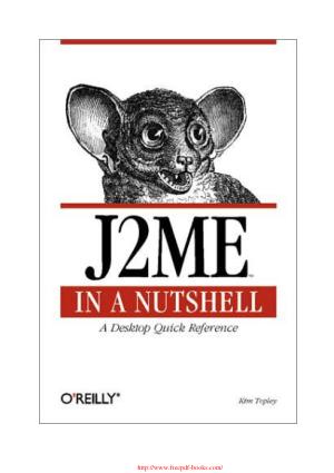 Free Download PDF Books, J2ME in a Nutshell – PDF Books
